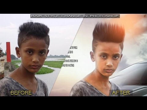 Change Hairstyle in Photoshop 2017 | Photoshop Tutorial