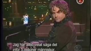 Zach Galifianakis - on Letterman with guest host Janeane Garofalo