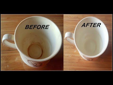 Clean the stains of Coffee or Tea from Cup or Mug |कप की जिद्दी दाग की सफाई कैसे करें |