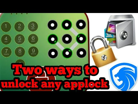 How to unlock applock pattern on android without losing data