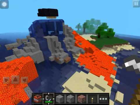 Minecraft PE destroy the VOLCANO