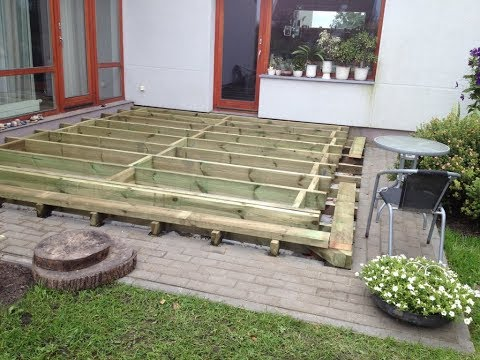 How to Build a Ground Level Deck -  frame -  ( Part 1)