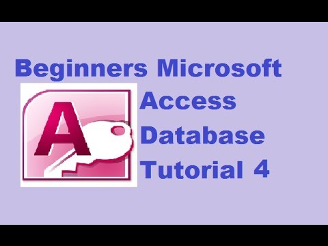 Beginners MS Access Database Tutorial 4 - Creating Queries