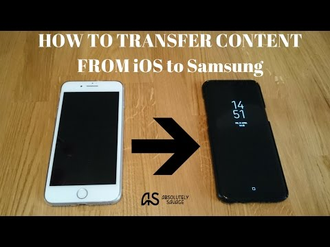 HOW TO Transfer Content from iPhone to your new Samsung Galaxy