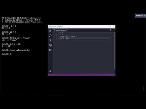 JShell Basics 15 - Saving and opening JShell sessions