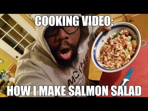Cooking Vlog: How to make salmon (salmon salad)