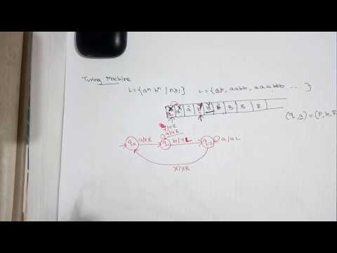 39-Turing machine for language contains n number of a's followed by n number of b's by Deeba Kannan