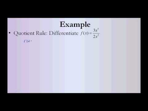 Rules for Differentiation