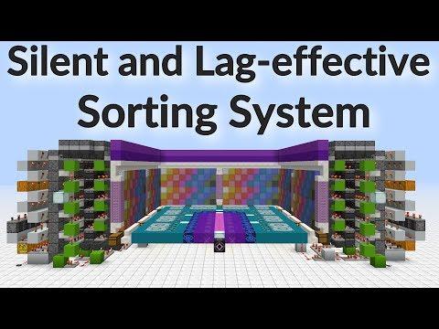 Minecraft 1.12: Silent, Lag-effective Multi-Item Sorting System