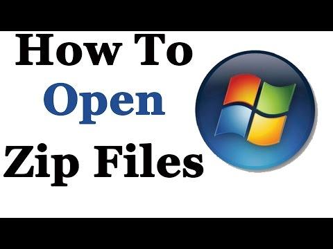 How To Open Zip Files In Windows 7 & 8