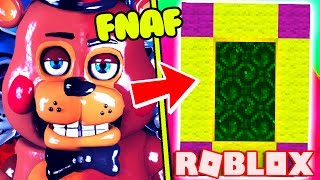 HOW TO MAKE A PORTAL TO THE FNAF RETURN TO THE SCENE DIMENSION - ROBLOX FIVE NIGHTS AT FREDDY
