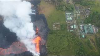 Kilauea Lava Threatens Puna Geothermal Venture Power Plant