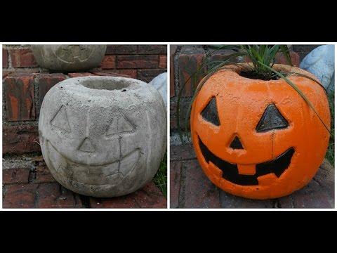 We Made Cement Pumpkins