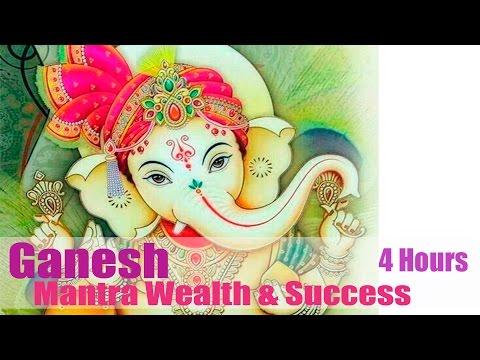 Mantra GANESH 🌸ॐ Om Gam Ganapataye Namaha (4 Hours)💎Wealth💎👪Success💰 🌸Мантра Ганеш💎💰👪💎Успех💑🌸
