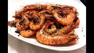 【20無限】:  椒鹽蝦 ( 今次用花椒 ) Pepper Salt Stir-fried Shrimps