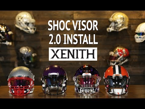 HOW TO Install SHOC 2.0 Lightning Visor into Xenith Football Helmet