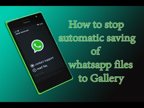 How to stop seeing whatsapp videos and images in gallery of windows phone