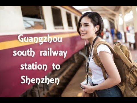 Guangzhou south railway station to Shenzhen north on High Speed Train