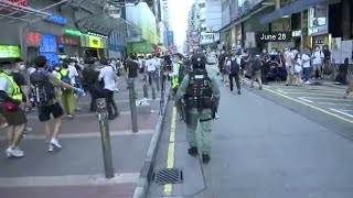 53 arrested for unlawful assembly in Hong Kong