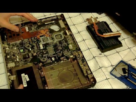 Acer Aspire 5100 Laptop Disassembly video, take apart, how to open