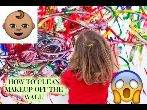HOW TO CLEAN MAKEUP OF THE WALLS