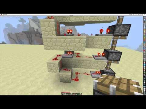 Minecraft 1.7.3 piston elevator concept