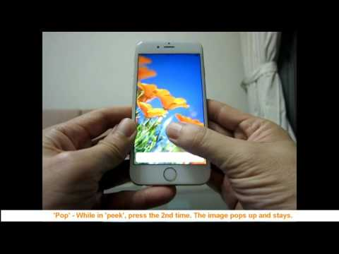 Iphone 6s  -  How to enable 3D touch and use peek and pop. A 1min video.