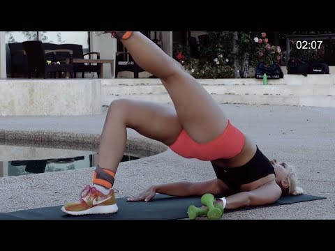 Build A Bigger and Better Buttocks Workout - Buttocks workout with Weights & Ankle Weights