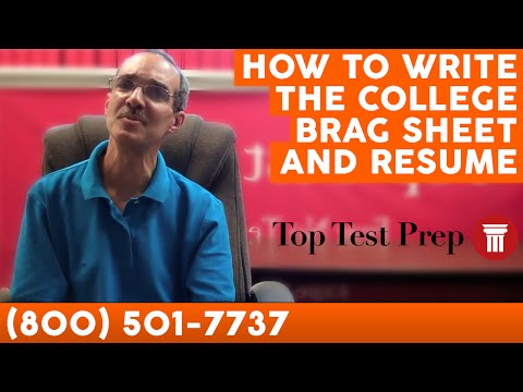 Common App: How to Write College Brag Sheet and Resume - TopTestPrep.com