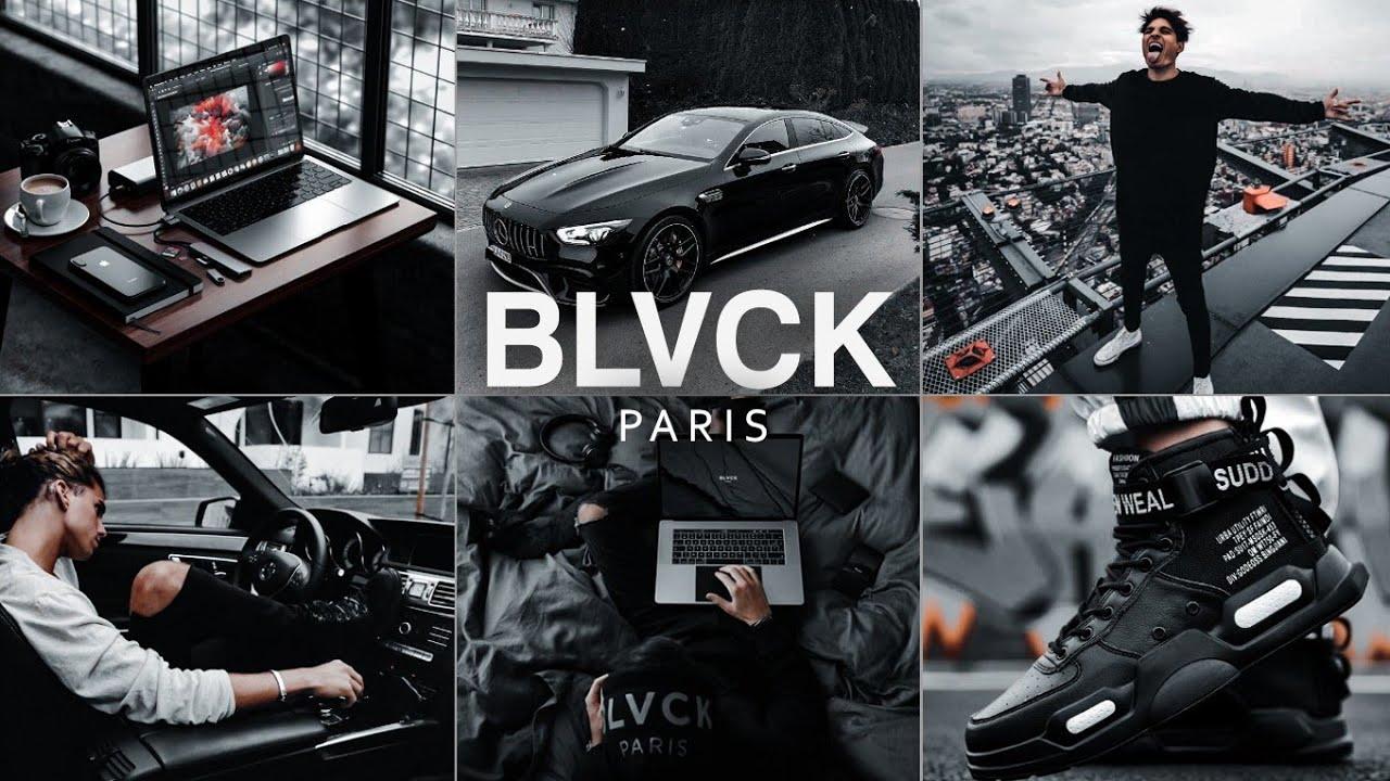 BLVCK PARIS Presets - Lightroom Mobile Presets DNG   Black Tone Preset   Black Preset