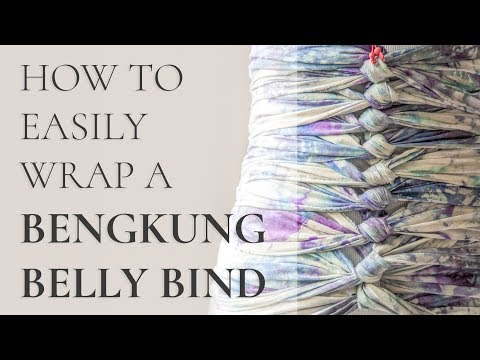 How To Easily Wrap Bengkung Belly Bind Yourself