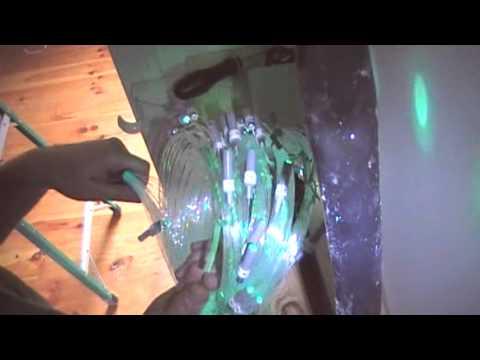 Fiber Optic Star Ceiling Installation Video in Drywall for Children's Bedroom