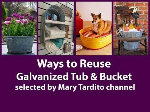 How to Repurpose Galvanized Tub Ideas – Ways to Reuse Galvanized Buckets