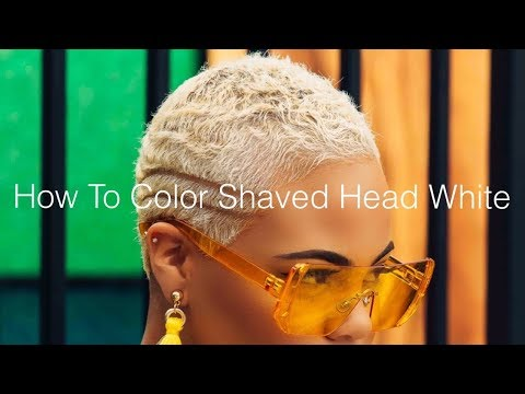 How To Color Shaved Head White