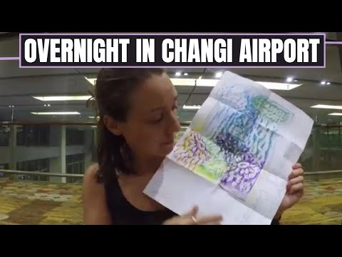 OVERNIGHT IN CHANGI AIRPORT--The Best Airport in the World: Singapore  //  208