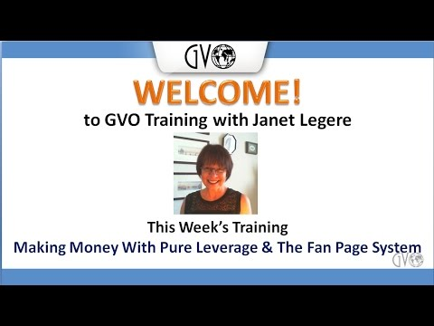 Making Money With Pure Leverage and The Fan Page System