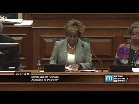 05/07/18 Council Budget Hearings: Assessor of Property