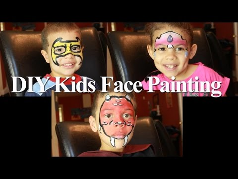 DIY Kids Face Painting! Dragon, Super Hero & Princess!
