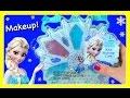 Disney Princess Frozen Makeup Purse!  Elsa Makeup Case!  Shimmer Cream, Lip Gloss, Eyeshadow, Jewelr