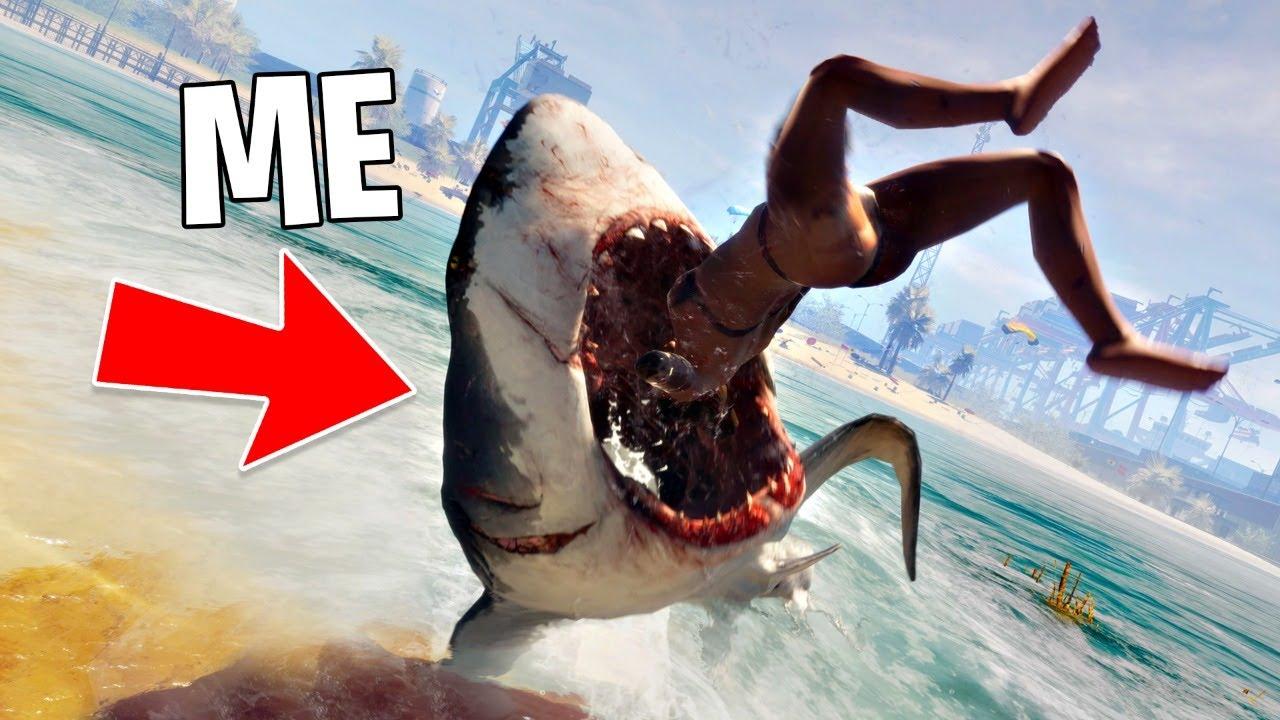 PLAY AS A KILLER SHARK!! (Maneater, Part 1)