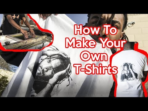 MY FACE ON A SHIRT! How To Make Your Own T-shirt DIY | Men's Fashion