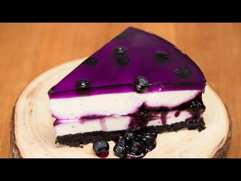 Huckleberry/Blueberry Cheesecake (No Bake Recipe) from Cookies Cupcakes and Cardio