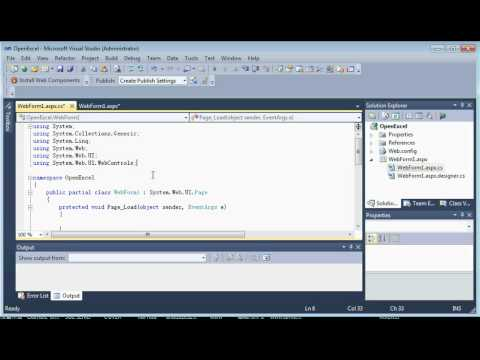 c# visual studio 2010 how to import excel to gridview