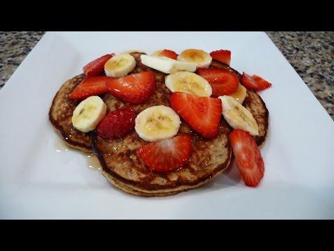 Healthy Banana Oatmeal Mini Pancakes, easy breakfast,