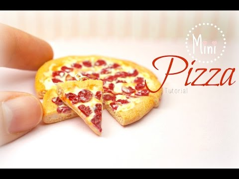 Mini Pizza Polymer Clay Tutorial