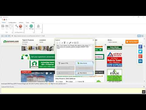 How to scrape property details from Zameen.com using Webharvy