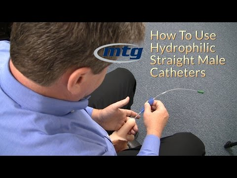How To Use A Urinary Hydrophilic Straight Male Catheter