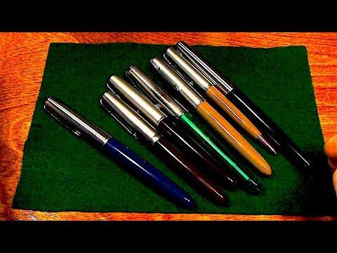 The Parker 51 Fountain Pen on a rainy night - Pen ASMR