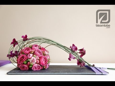 How to make a flower arrangement with roses tutorial