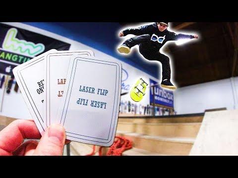LASER FLIPPING INTO THE HANDRAIL!?! | SKATE ROULETTE 2.0
